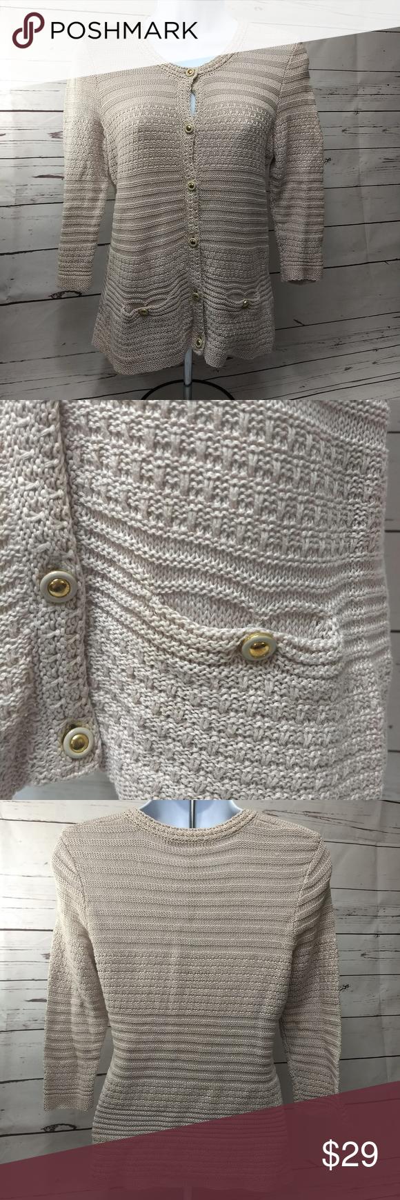 Trina turk blush button down sweater sleeves in my posh