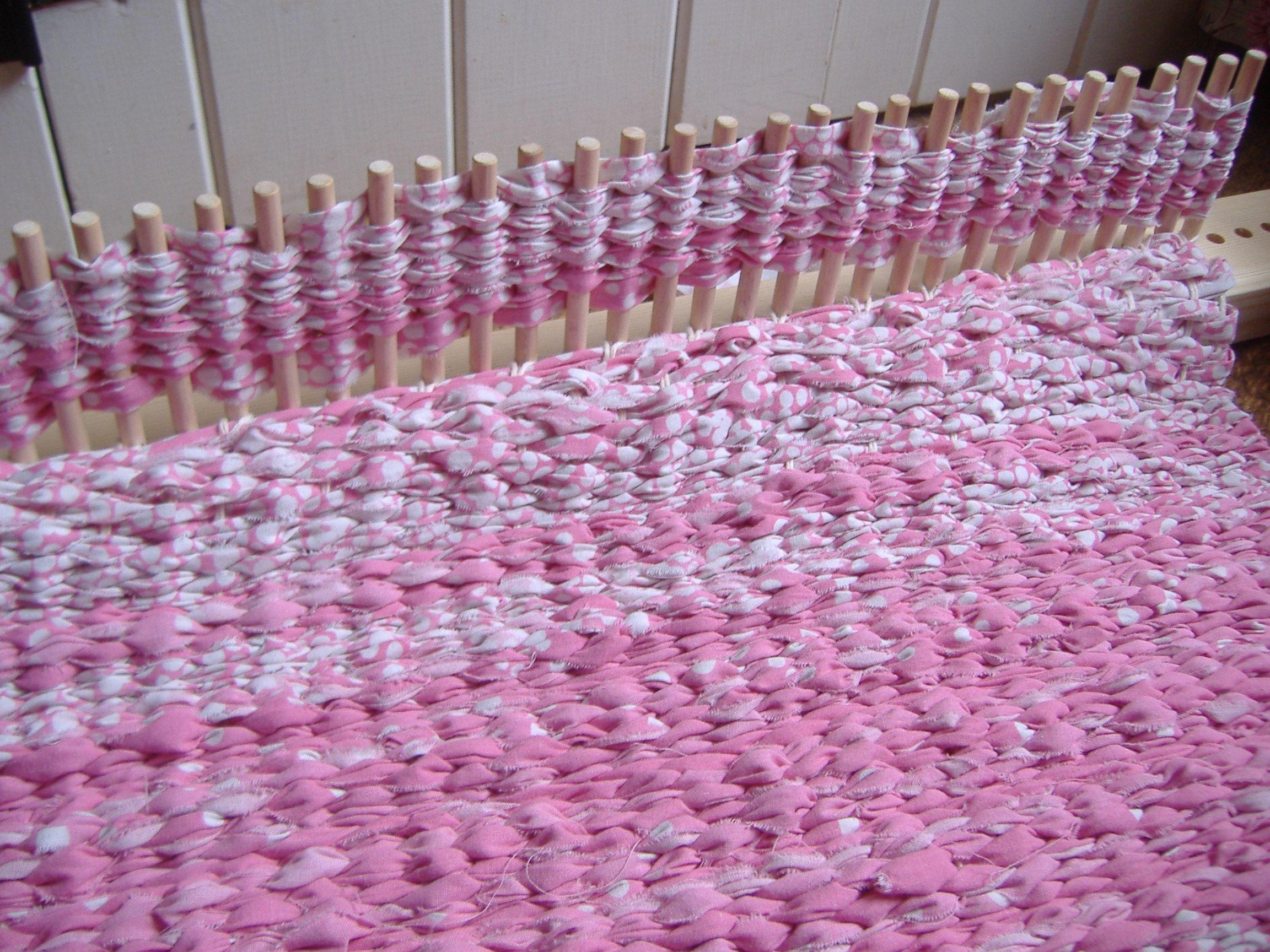 Peg Loom Rug Work In Progress