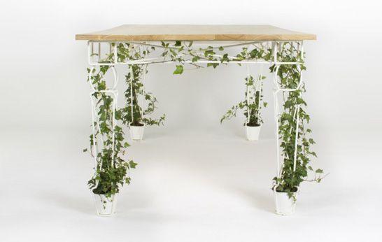 Plantable, JAILmake, table, trellis, , plant pot, integrated plants, nature, office furniture