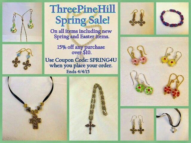 15% off sale until 4/4/15.  Use coupon code SPRING4U.