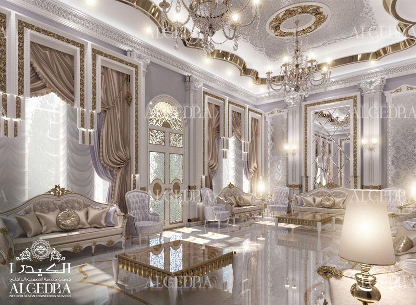 Women majlis design best interior decoration by algedra for Islamic interior design ideas