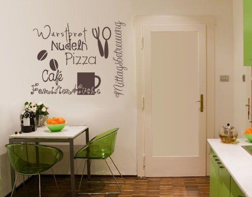 Wandtattoo Sprüche - Wandworte No.UL925 KüchenDoodles Drei #Küche ...