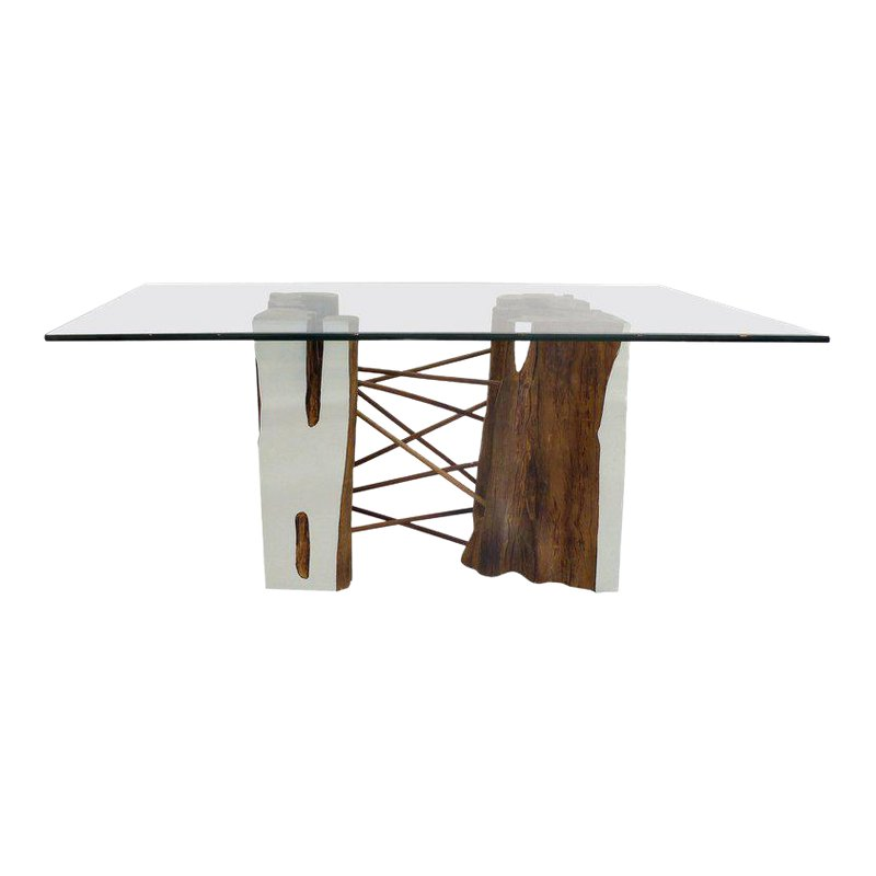 Brazilian Reclaimed Guaranta Wood Table Base From The Amazon By Valeria Totti Wood Table Bases Wood Table Table