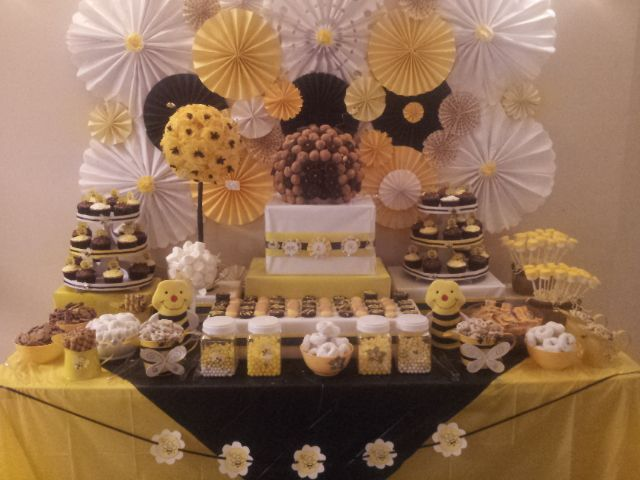 Recent Baby Shower Candy Table Mom To BEE Kid Friendly No Glassware