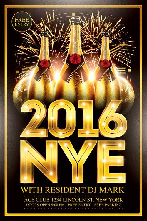 New Year Flyer Template  HttpXtremeflyersComNewYearFlyer