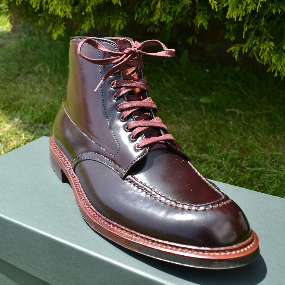 Flat Wide Waxed Boot Laces 54 Burgundy Lace Boots Boots Alden Shoes