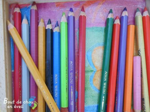 Activité créative avec des crayons de couleur aquarellables | Bout de chou en…