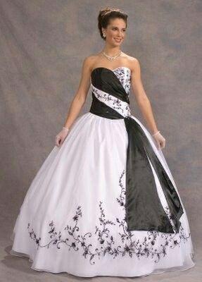Elegante blanco/negro