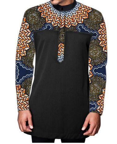 Mens slong africain ankara des manches / cire par UrbaneAfrican Robe  Africaine Wax, Mode Africaine