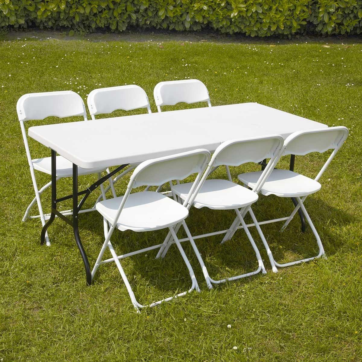 Ensemble Table Et Chaises Pliantes De Jardin 152cm Table Et Chaises Ensemble Table Et Chaise Et Table Et Chaises De Jardin