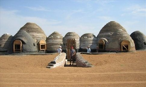 Emergency Shelter Village By The California Institute Of Earth Art And Architecture Mojave Desert