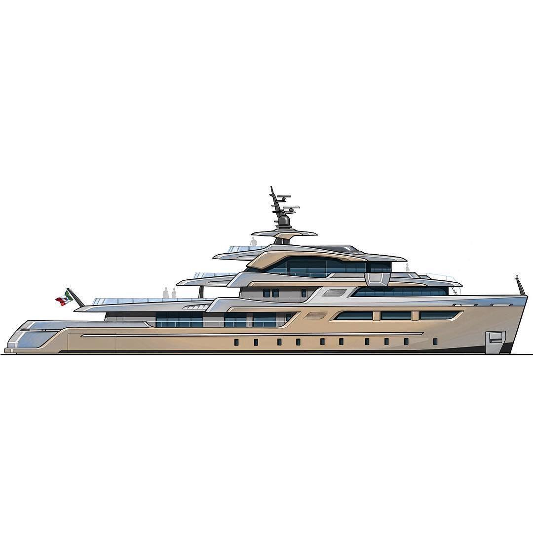 lucadinidesign#sketch#newproject#yachtdesign#megayacht#explorer#luxury#boat#italianstyle#lucadinidesign