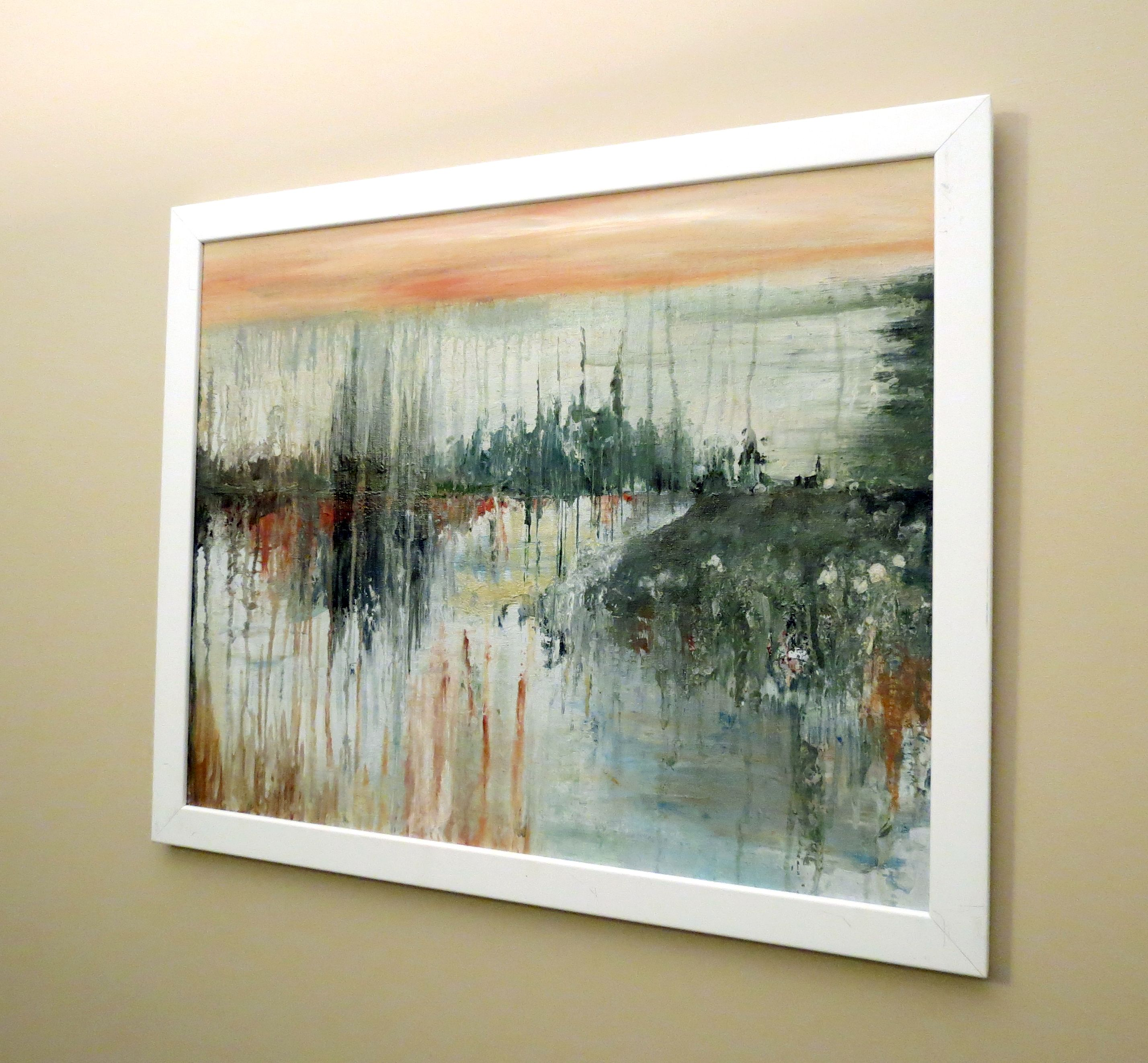 """Abstract Art """"Wilderness""""  Acrylic on Canvas 16"""" x 20""""  $150.00 (framed) Website:  www.facebook.com/fayes.art"""