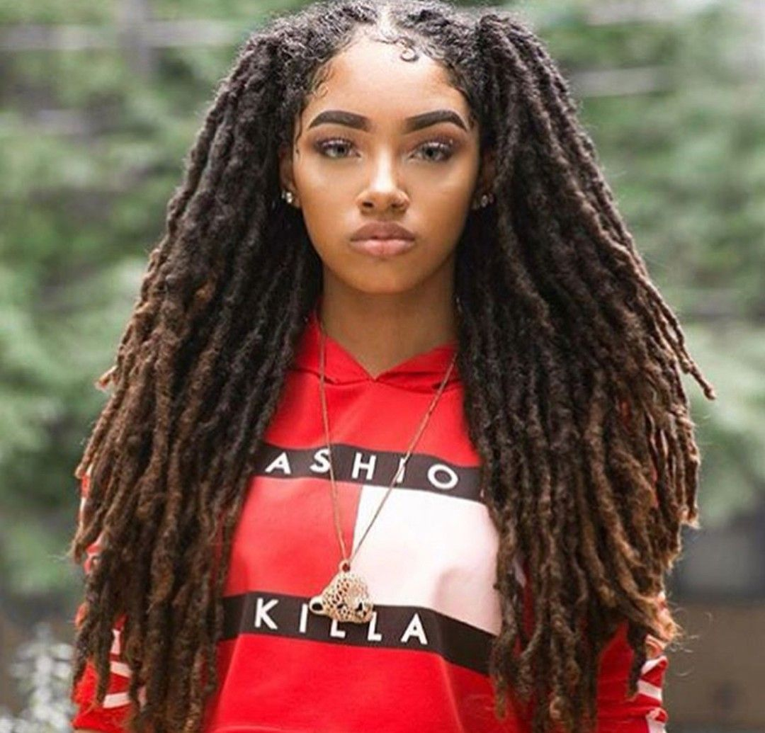 Shared By Princess Nevaeh Find Images And Videos About Girl Beautiful And Hair On We Heart It The App To G Hair Styles Locs Hairstyles Beautiful Dreadlocks