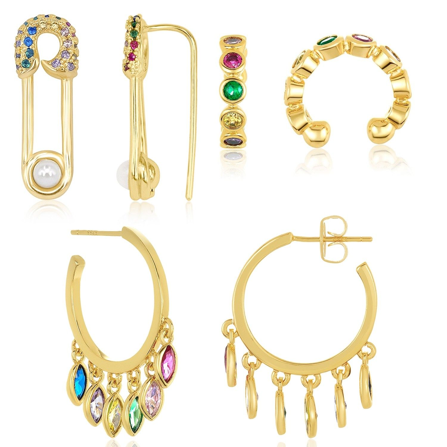 Rainbow Ear Layers MM Layers Collections Jewelry