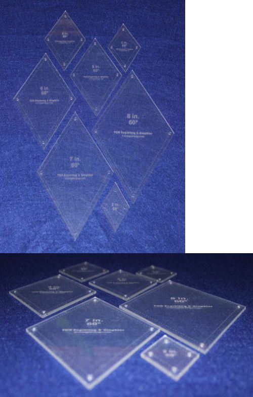 Quilt Templates and Stencils 116680 60 Degree Diamond 7 Pc Set-2 - degree templates