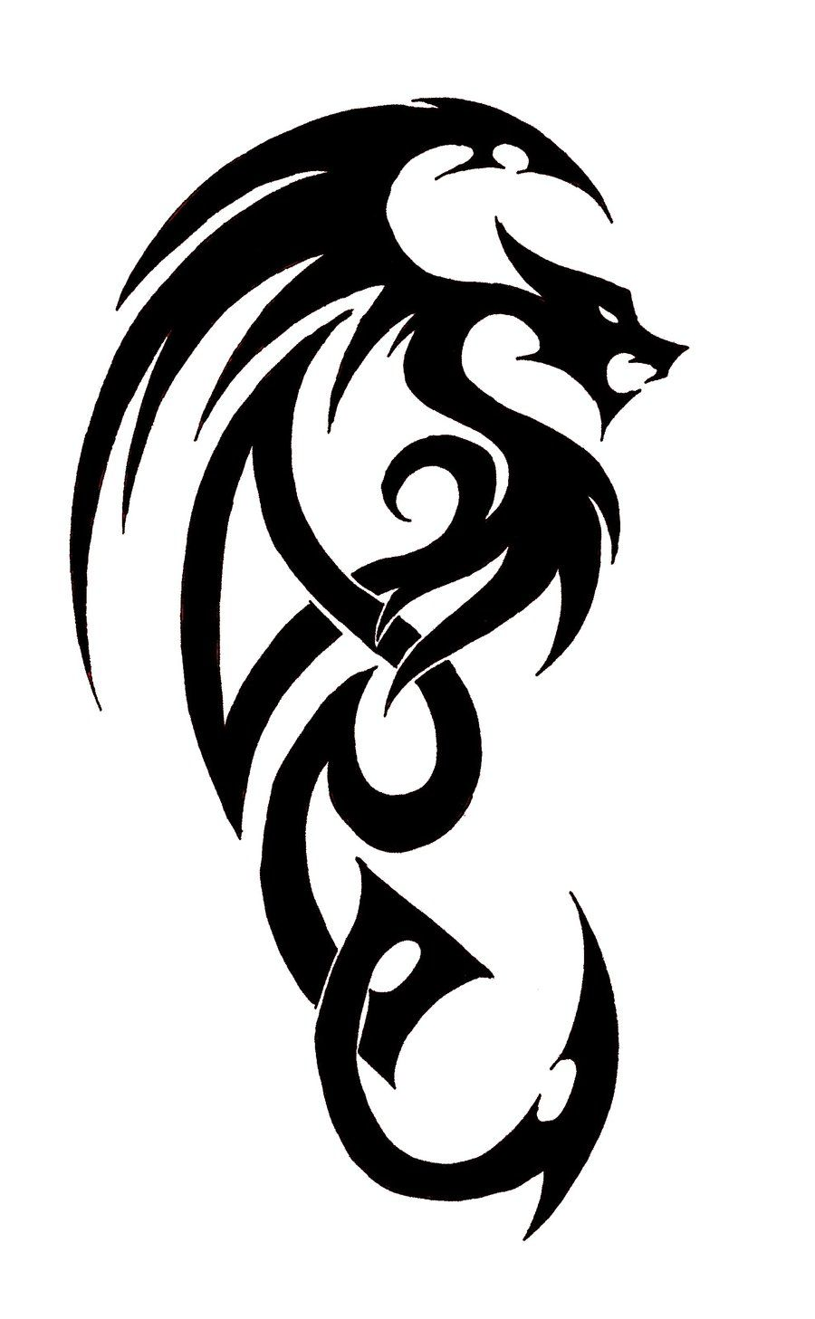 Easy Simple Dragon Tattoo Drawing