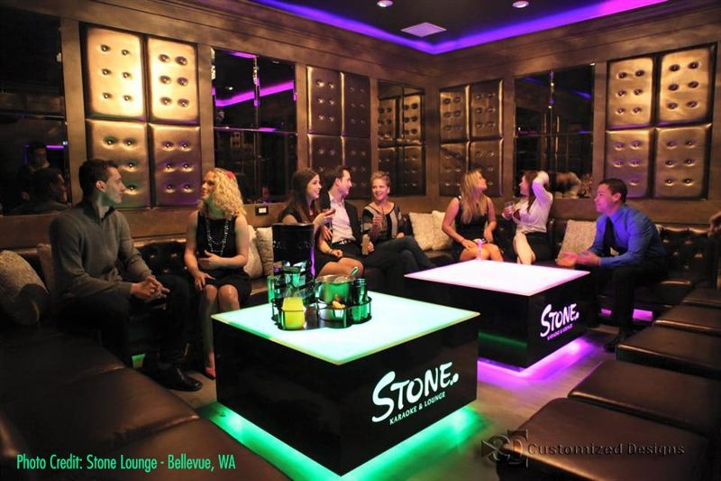 Nightclub Bar Furniture Led Lighted Coffee Tables Cubix Series Nightclub Design Night Club Karaoke Room
