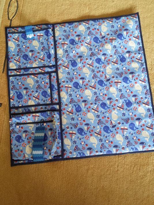 DIY tutorial Luiertas met drie vakken naaien via DaWanda