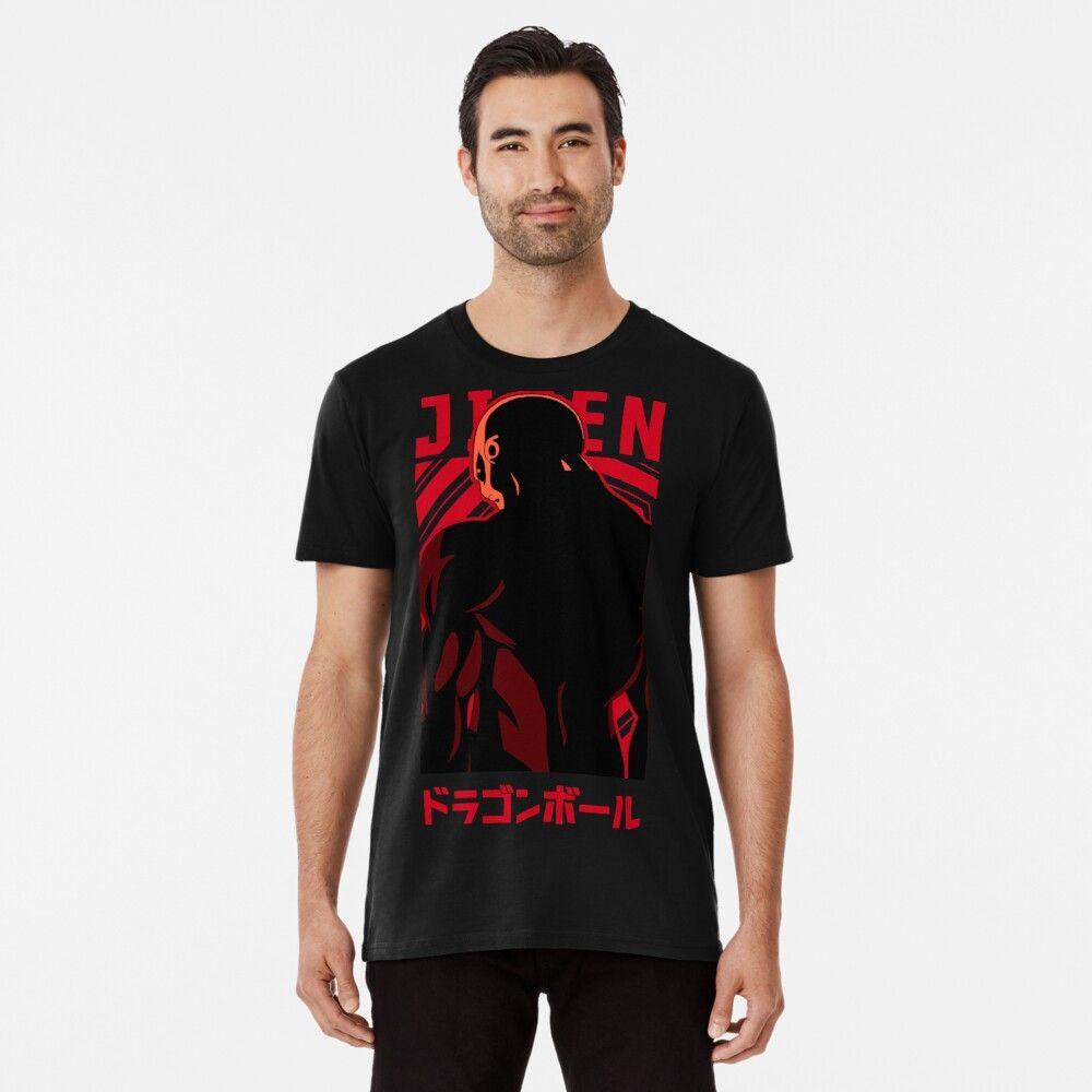 Jiren Dragon Ball Super Anime Manga Design Premium T Shirt By Black Kitsune Anime Shirts Anime Shirt Dragon Ball Shirt Designs
