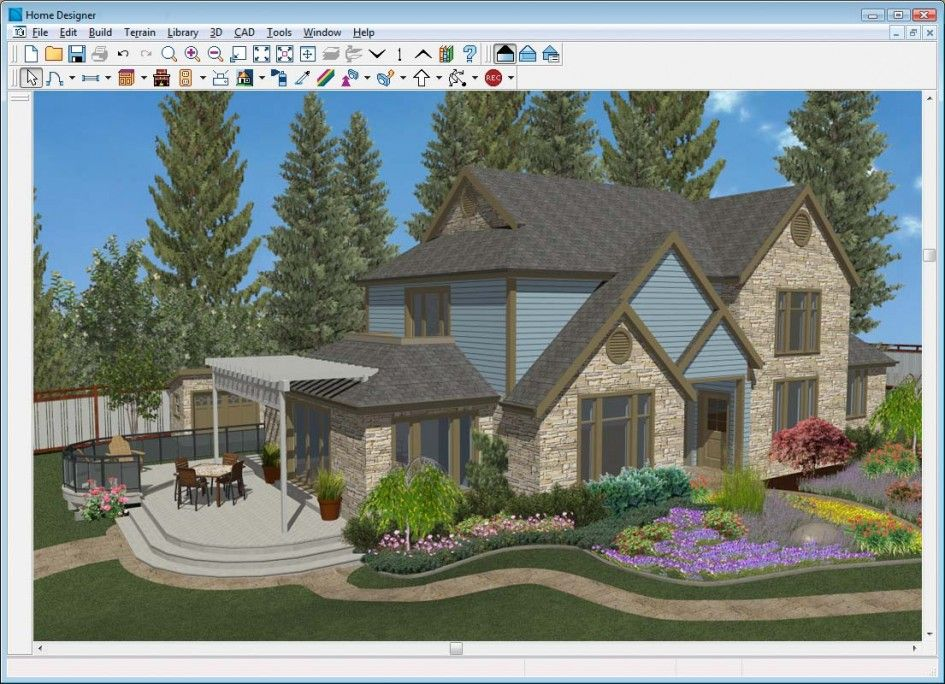 Architecture Home Designer Software Of 3d Exterior Home Design And Landscaping Also Patio With P Home Design Software Home Colour Design House Designs Exterior