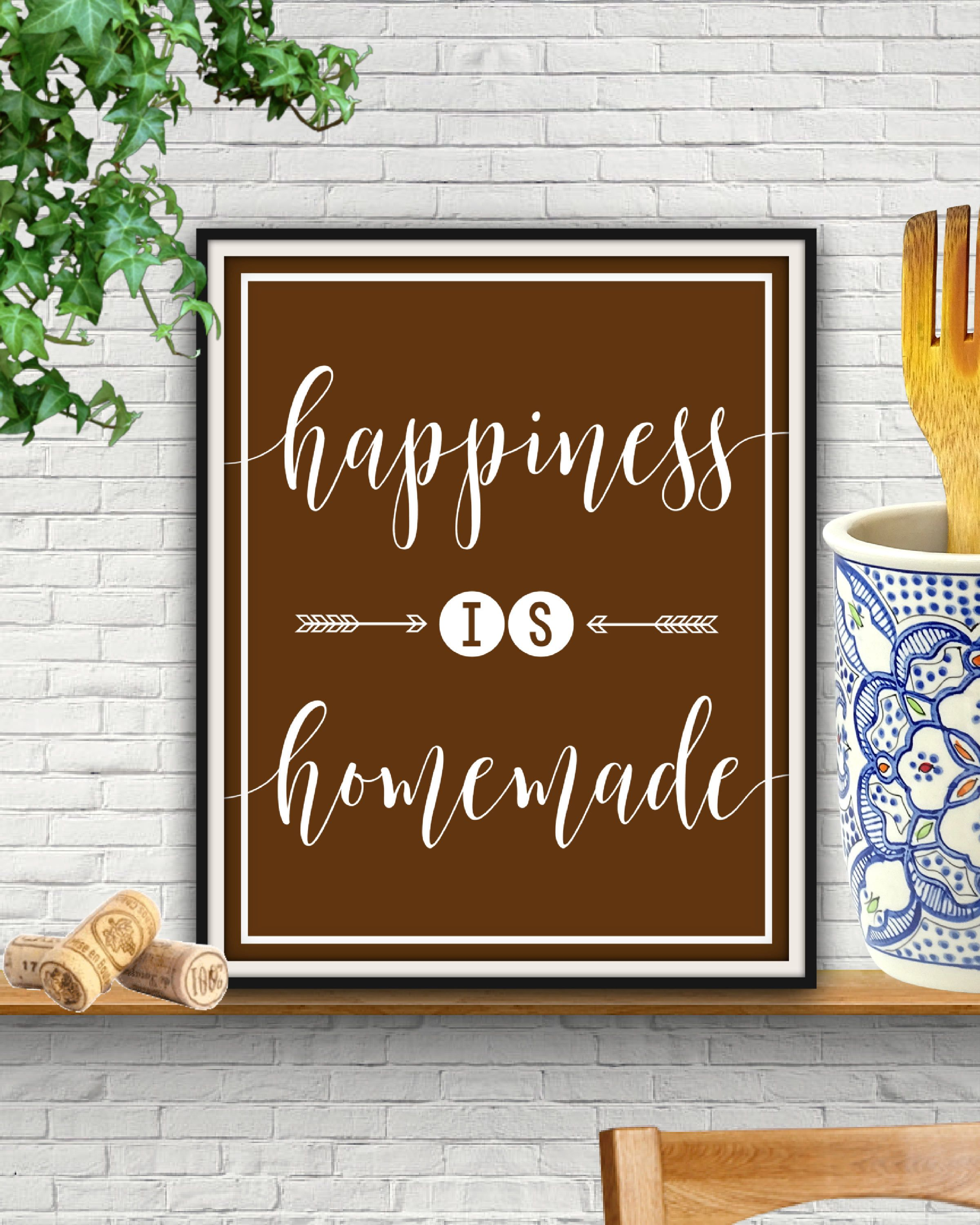 Happiness Is Homemade Happiness Is Homemade Sign Quotes For Wall