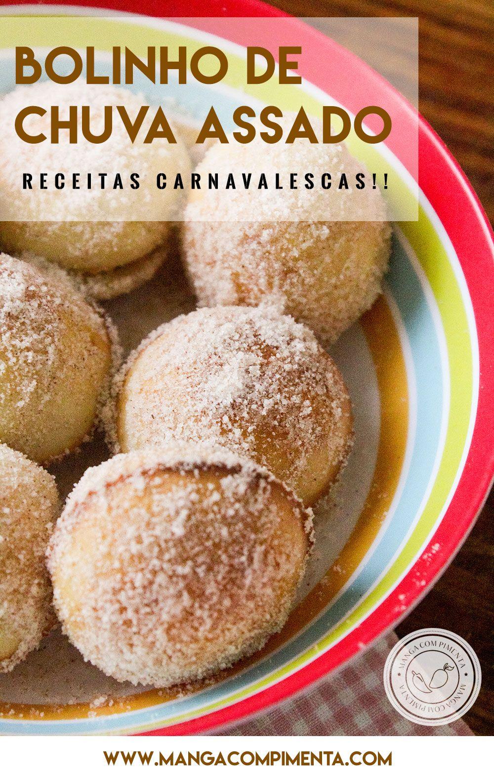 Receita de Bolinho de Chuva Assado - um agrado para o lanche do carnaval. #receitas #carnaval