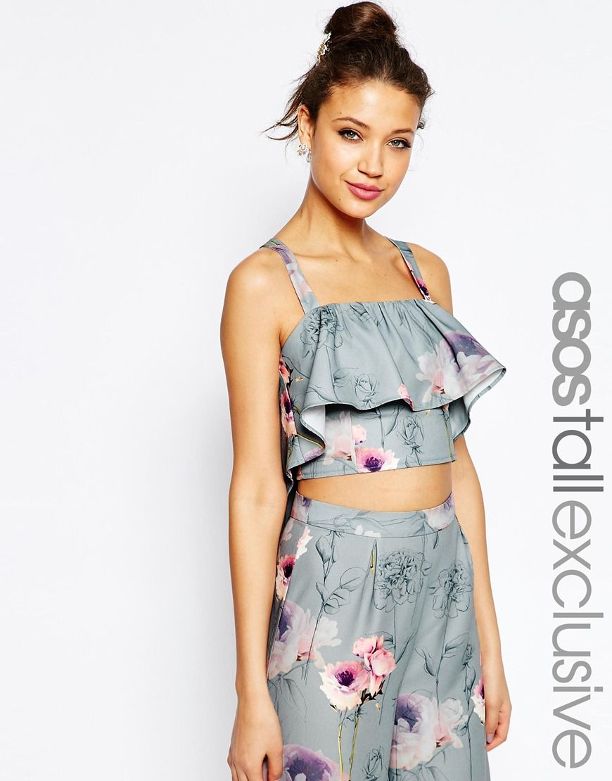 ASOS TALL SALON Co-ord Top In Floral Print