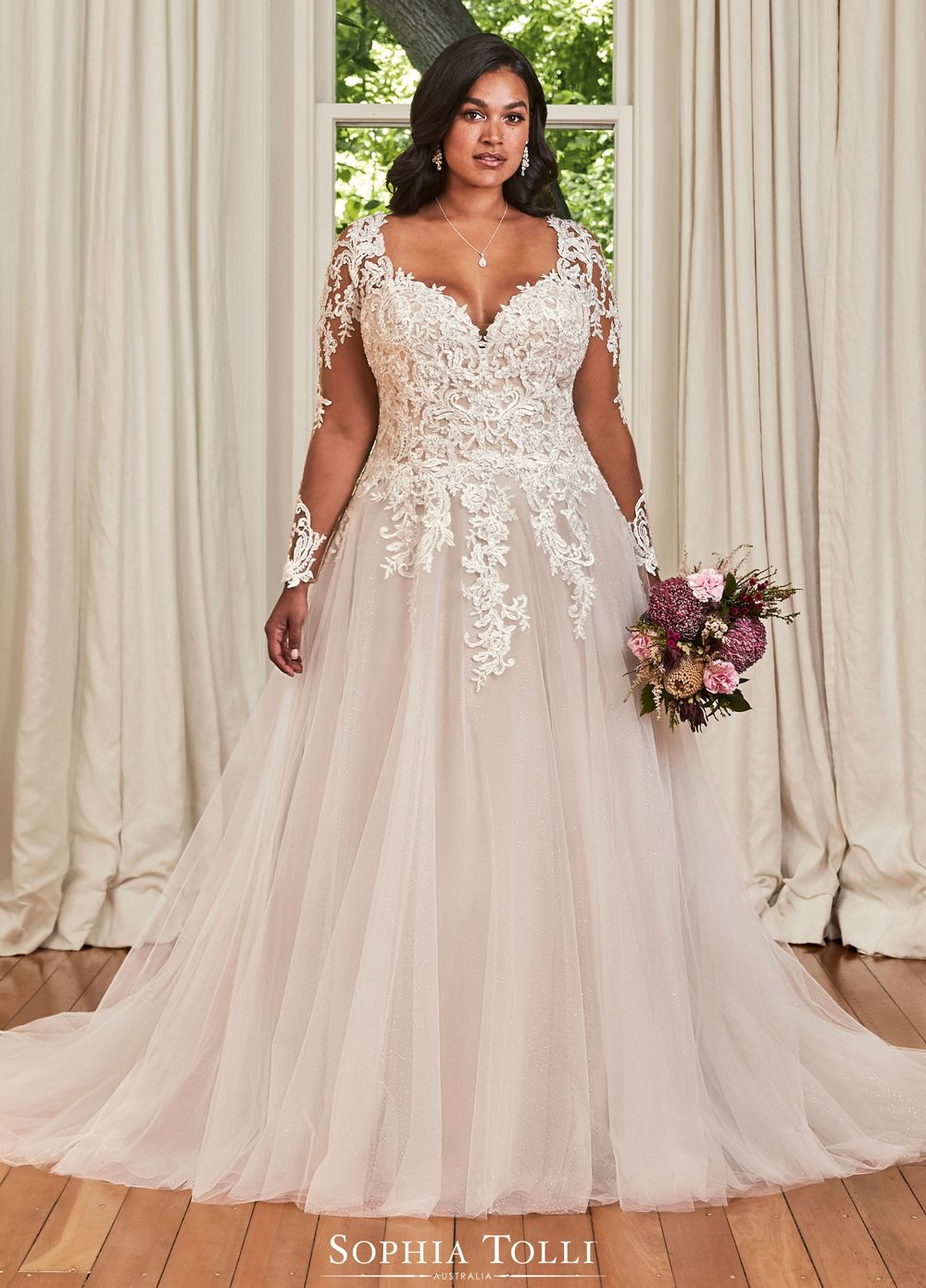 Sophia Tolli Y21977bls Stephanie Grace Illusion Back Bridal Dress Plus Wedding Dresses Wedding Dresses Wedding Dresses Plus Size [ 1391 x 1000 Pixel ]