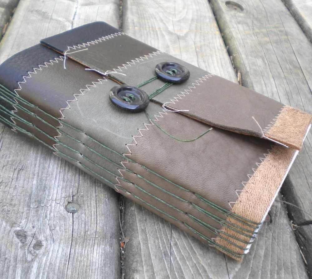 Reduce, Reuse, and Recycle - Leather Journal. $28.00, via Etsy.
