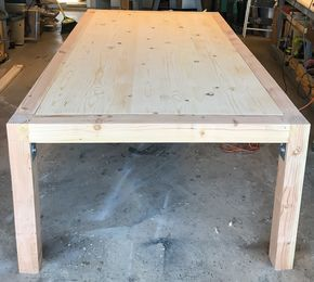 Diy Chunky Modern Dining Table  Modern Free And Woodworking Captivating Building A Dining Room Table Decorating Inspiration