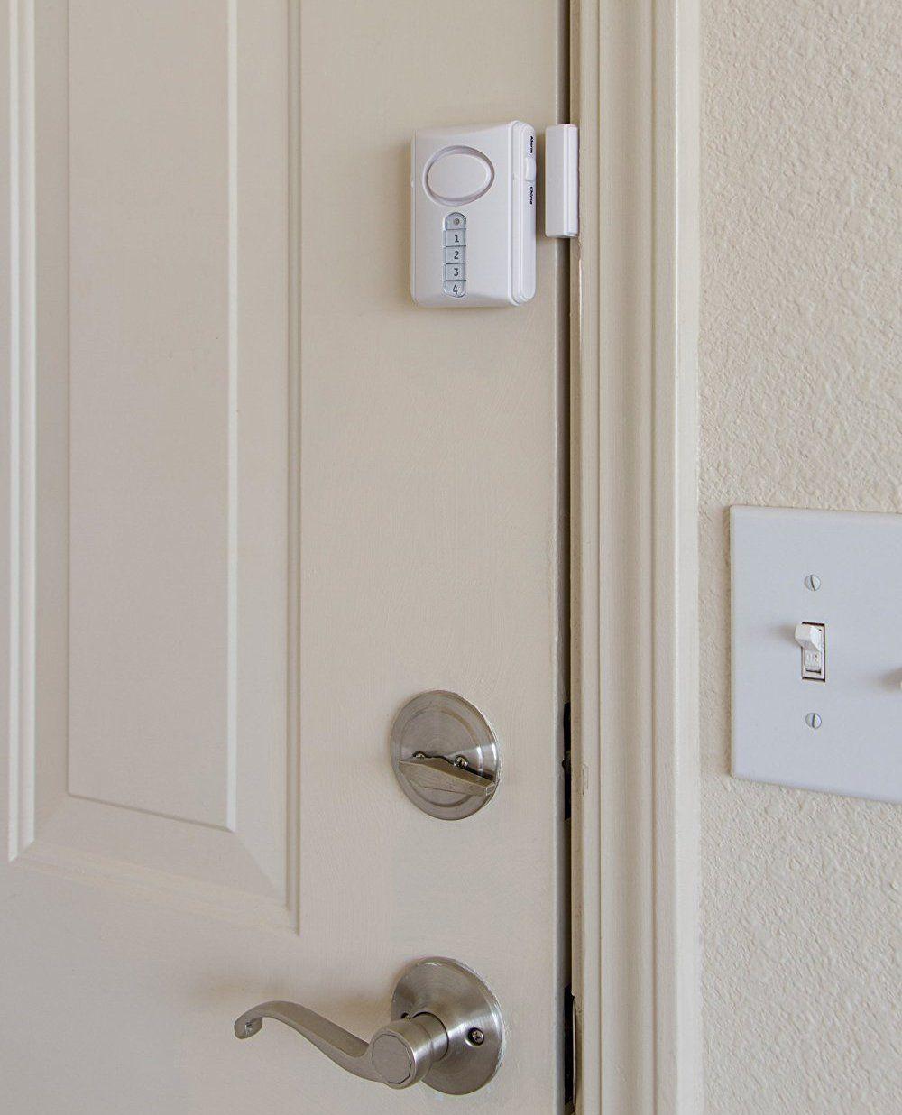 Ge Deluxe Wireless Door Alarm 120 Decibel Alarm Or Entry Chime Indoor Personal Security Wit Wireless Alarm System Home Security Systems Home Security Alarm