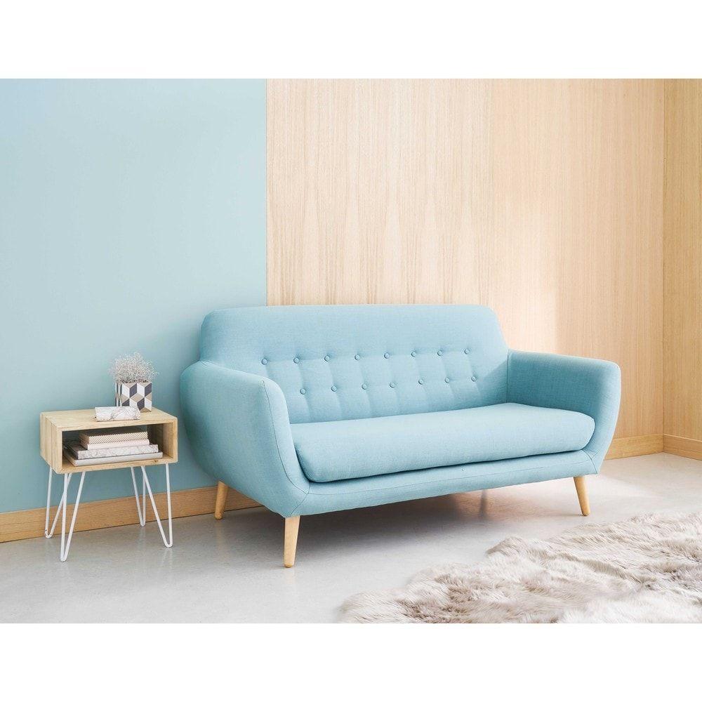 Tavolini Salotto Maison Du Monde.Tavolino Da Salotto In Paulonia E Metallo Bianco Retro Sofa