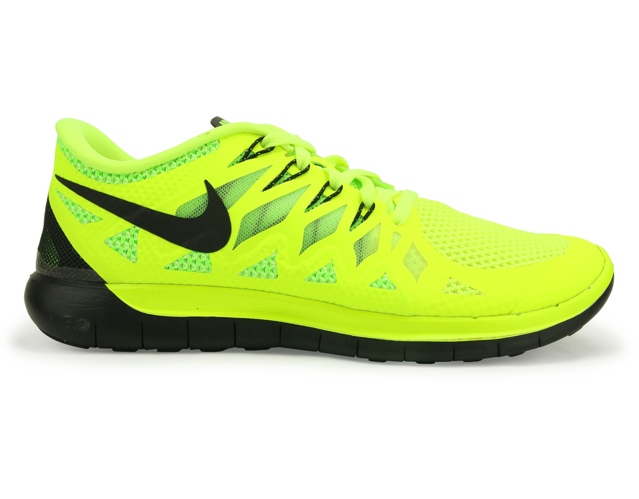 Cheap Outlet Nike Free 5.0 Mens Green Yellow Shoes NSK2253