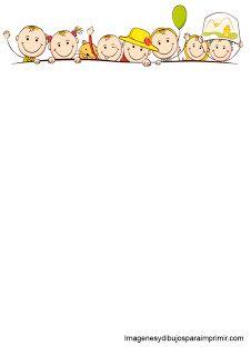 Hojas para cartas infantiles m pinterest hoja - Hojas decoradas para ninas ...