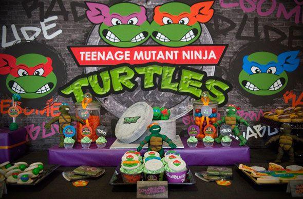 Teenage Mutant Ninja Turtles Birthday Extravaganza Turtle dessert
