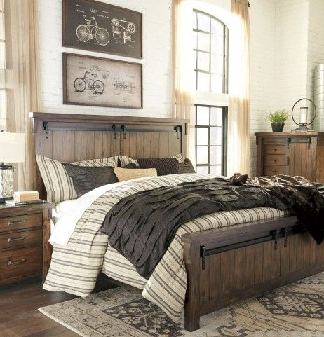 Lakeleigh Brown Cal. King Panel Bed