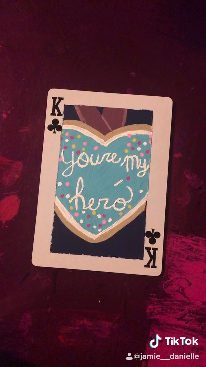 Painting Disney Cards Day 3 You Re My Hero Metal From Wreck It Ralph Video Playing Cards Art Mini Canvas Art Disney Cards