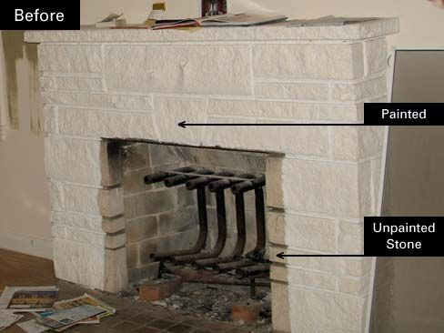 How To Remove Paint Residue From Cement Stone Or Brick Paint Remover Brick Fireplace Fireplace