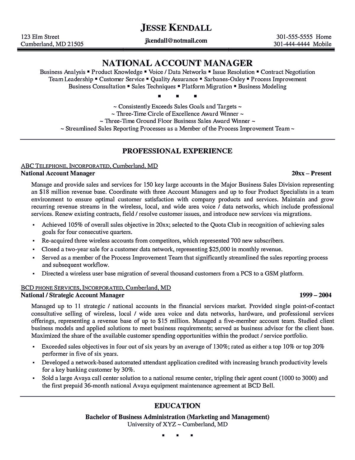 Incredible Account Executive Resume Samples Executive Resume Manager Resume Resume Examples