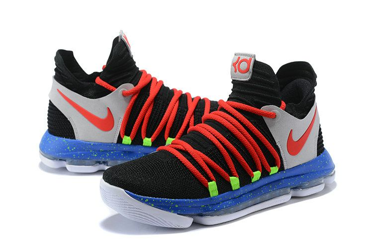 06dbcabed192 ... get kevin durant nike kd 10 black red cool grey blue b235e 427b8