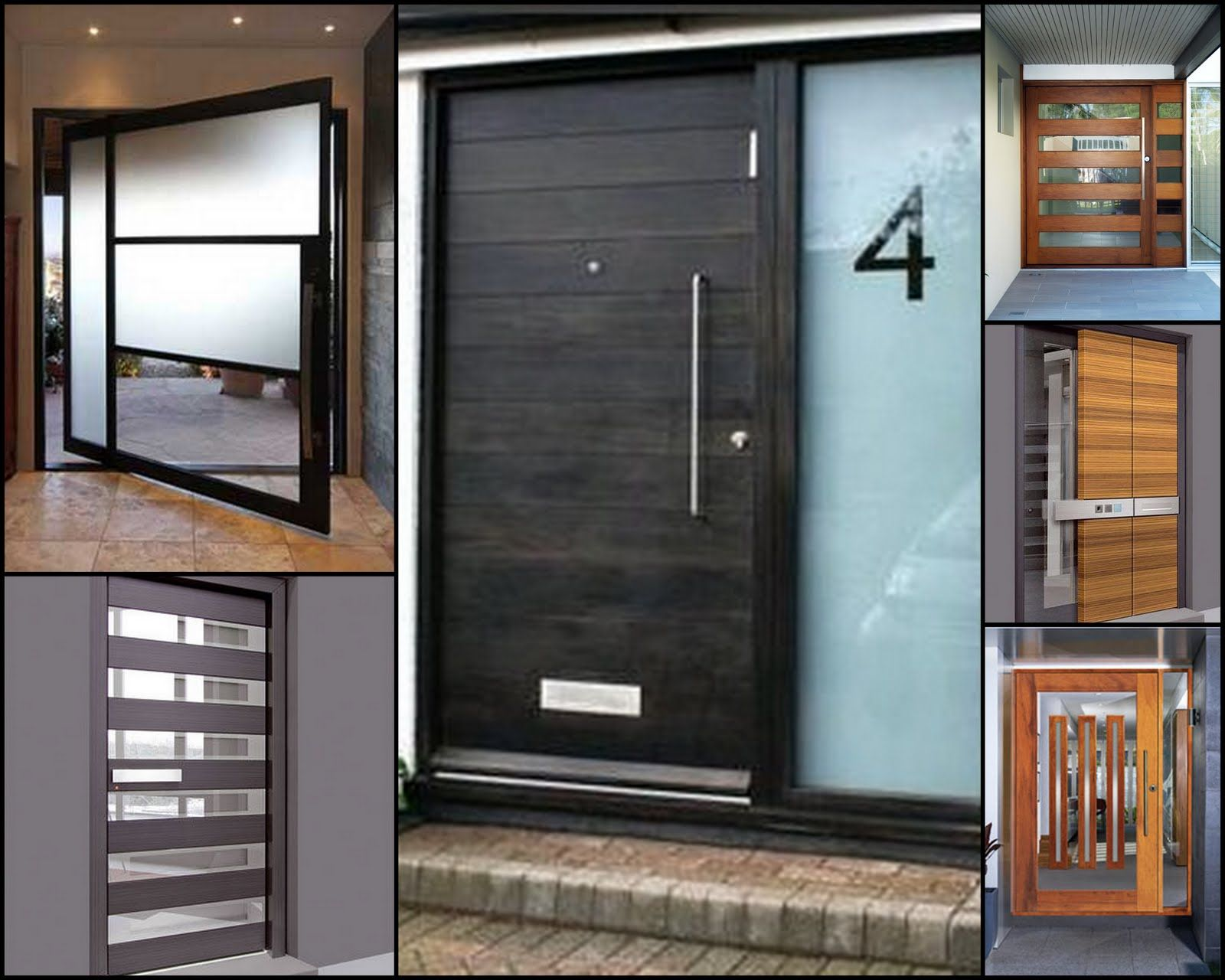 Home design amazing multi choices modern front doors with for Exterior back doors with glass