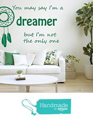 John Lennon Song Lyrics Quote Imagine Dreamer Vinyl Wall Art Sticker Mural