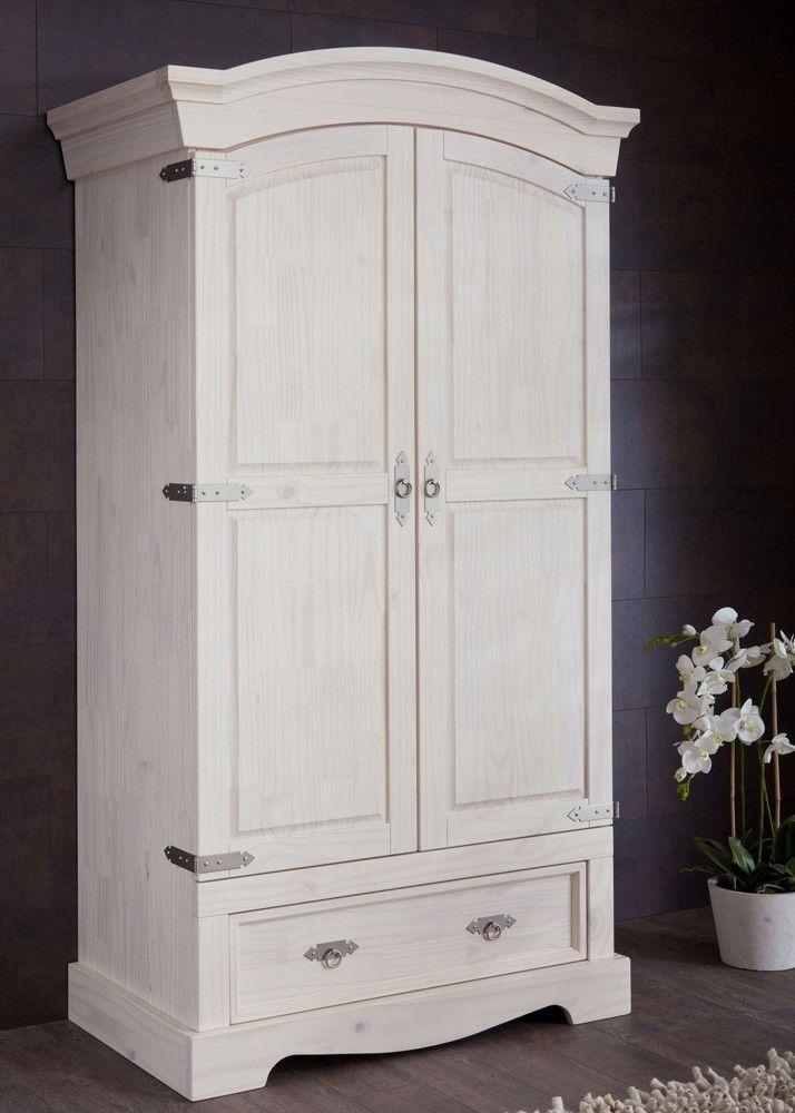 Landhaus Dielenschrank Mexican Henke Möbel Kiefer Massiv Weiß 21169 ...