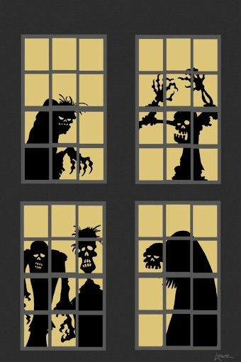 2015 Halloween CAT - Stained Glass Window Panel with Black Cat in - halloween window ideas