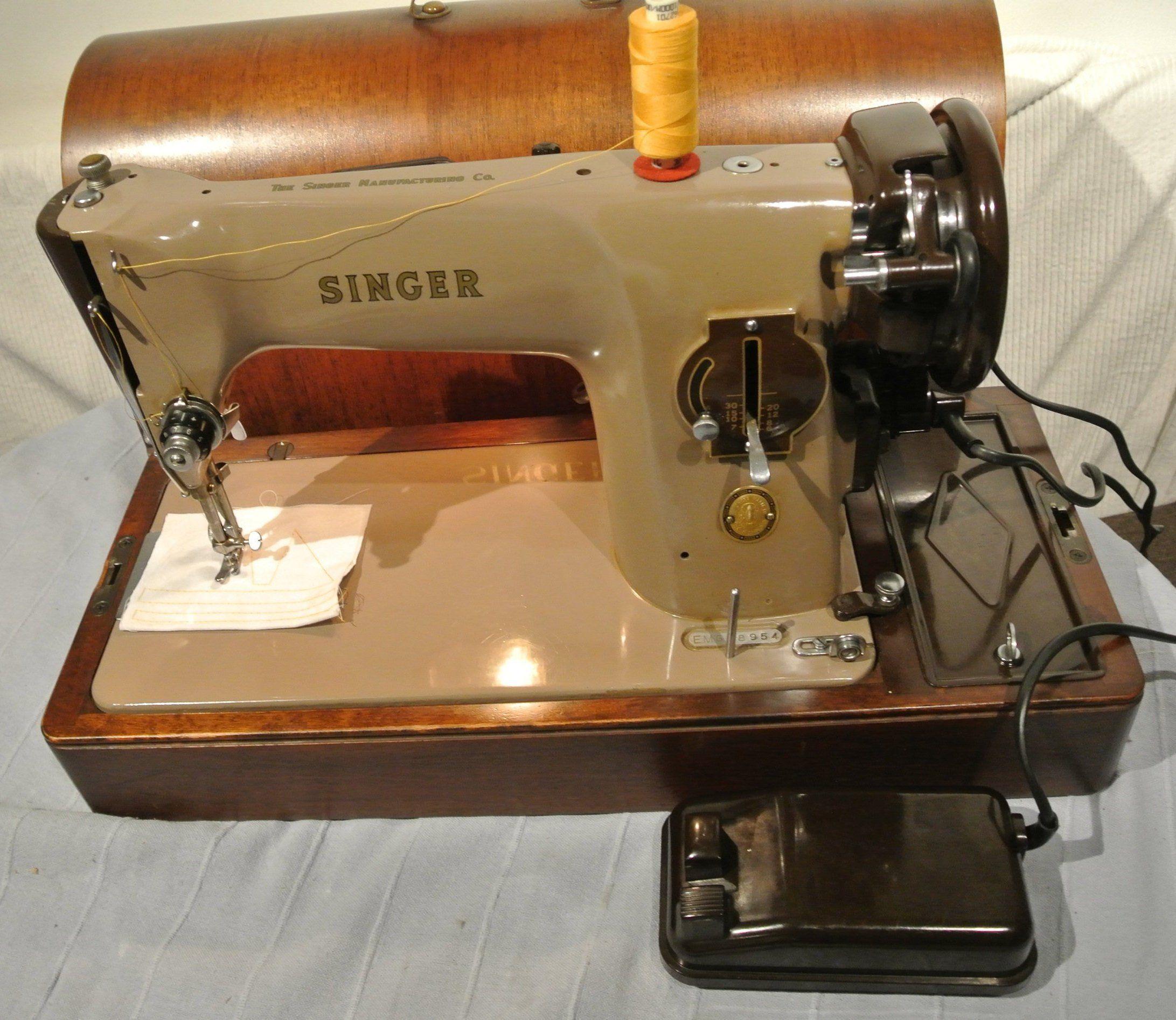 Vintage Singer 201k Aluminiun Electric Semi Industrial Sewing Machine Antique Singe Singer Sewing Machine Vintage Old Sewing Machines Industrial Sewing Machine