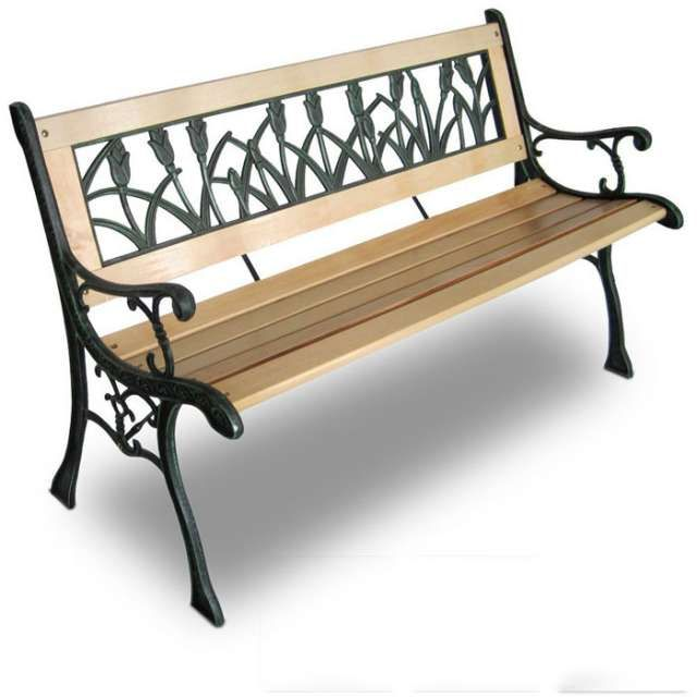 Jard n banco madera forja de segunda mano forja gartenbank holz gartenbank metall y Banco madera exterior