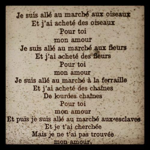 Pour Toi Mon Amour Jacques Prévert