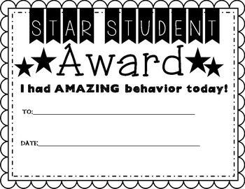 Behavior Management (Awards, Clip Chart, Positive Notes