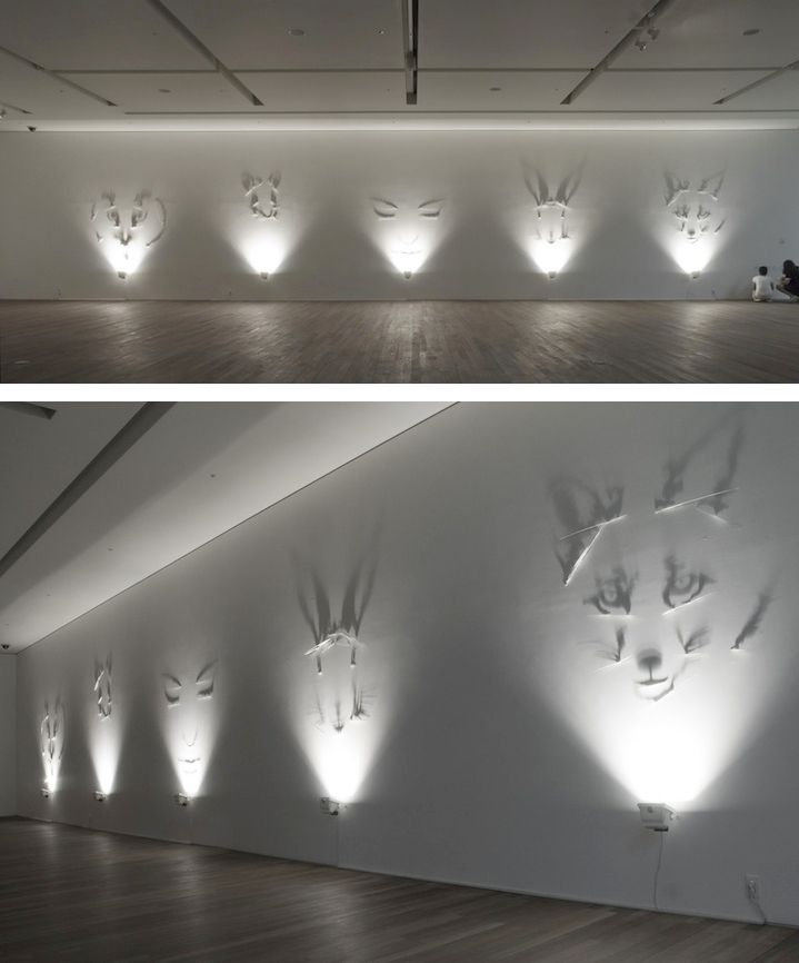 Shadow Art.The shadow art of Italian artist Fabrizio Corneli is the result of carefully calculated projections of light. Using mathematics to produce each visually compelling and mind-boggling piece of work